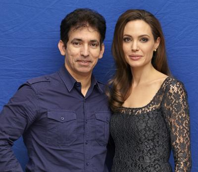Husam Asi and Angelina Jolie